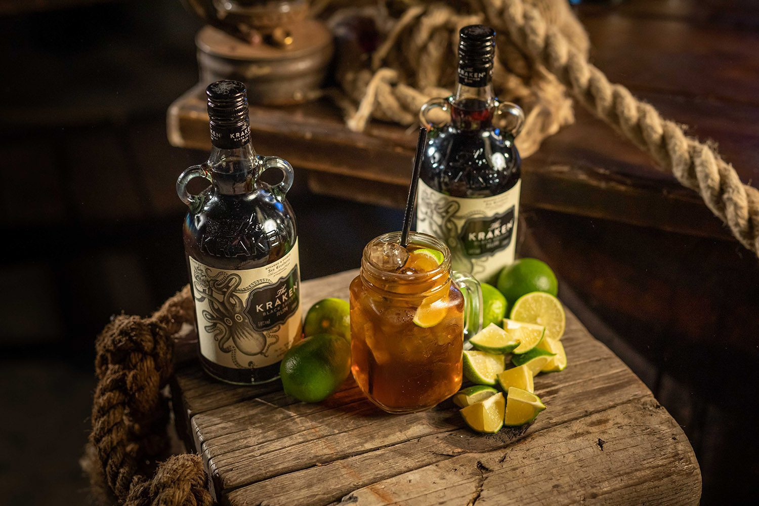 The Kraken Black Spiced Rum Cocktail The Perfect Storm On A Boat