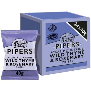 Pipers Atlas Mountains Wild Thyme & Rosemary Flavoured Crisps